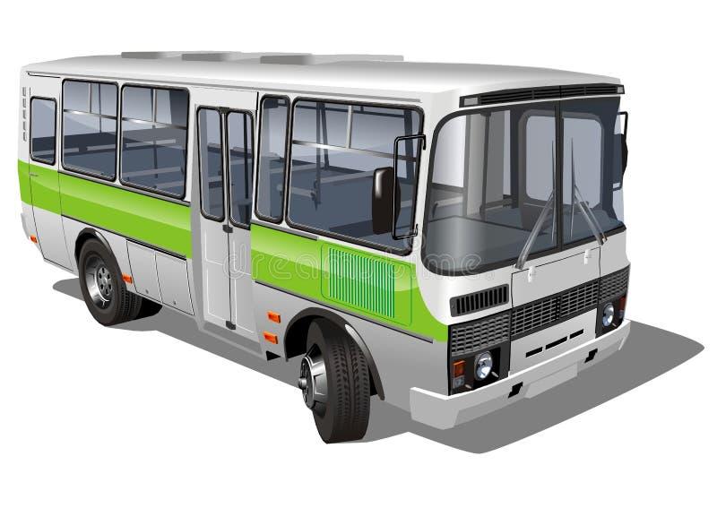 Stedelijke/in de voorsteden minibus royalty-vrije illustratie