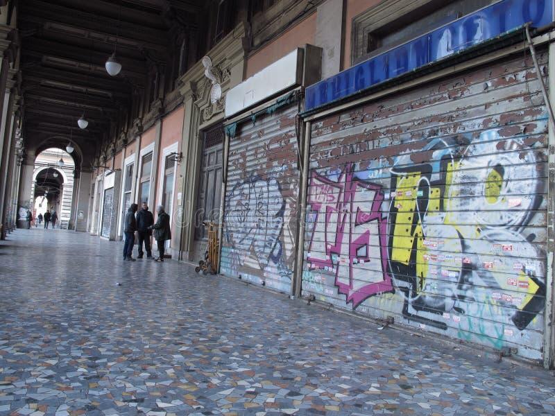Stedelijke degradatie in Rome, Italië royalty-vrije stock foto's