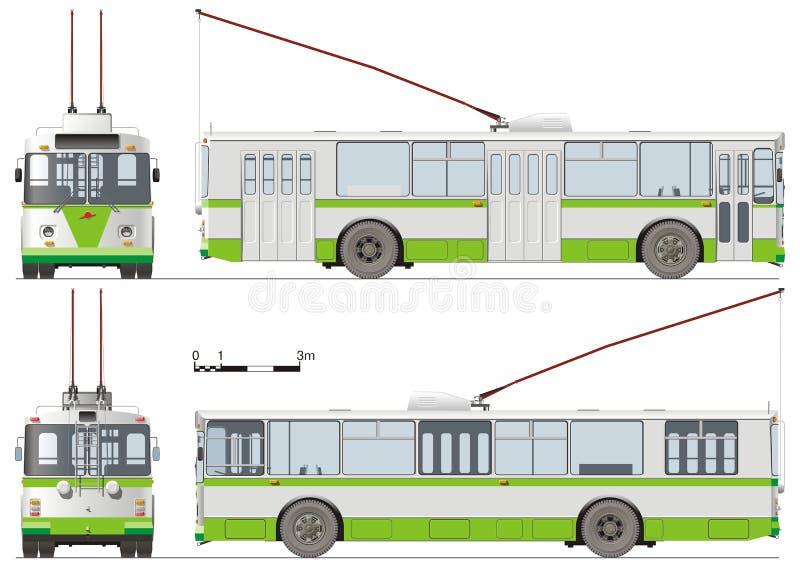 Stedelijke geïsoleerde trolleybus vector illustratie