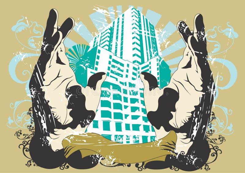 Stedelijke gebouwen stock illustratie
