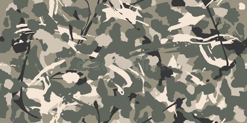 Stedelijke grijze camouflage, modern manierontwerp Camo militaire beschermend Amerikaanse Militair royalty-vrije illustratie
