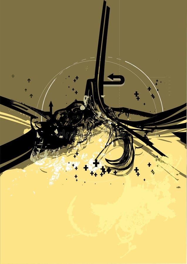 Stedelijke Grunge Reeks No.1 vector illustratie