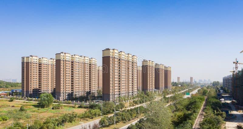 Stedelijke huisvesting in China stock fotografie