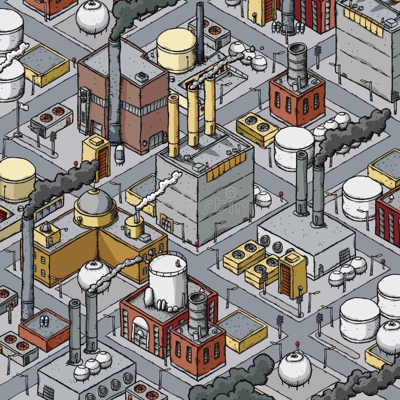 Stedelijke Industriezone stock illustratie