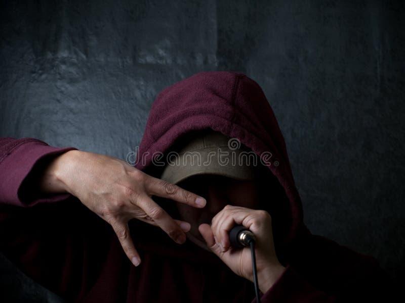 Stedelijke kunstenaar - rapper stock fotografie