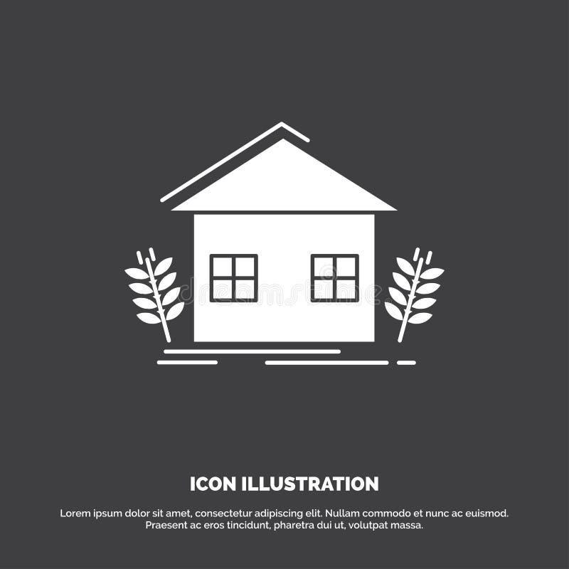 stedelijke landbouw, ecologie, milieu, de landbouwpictogram glyph vectorsymbool voor UI en UX, website of mobiele toepassing vector illustratie