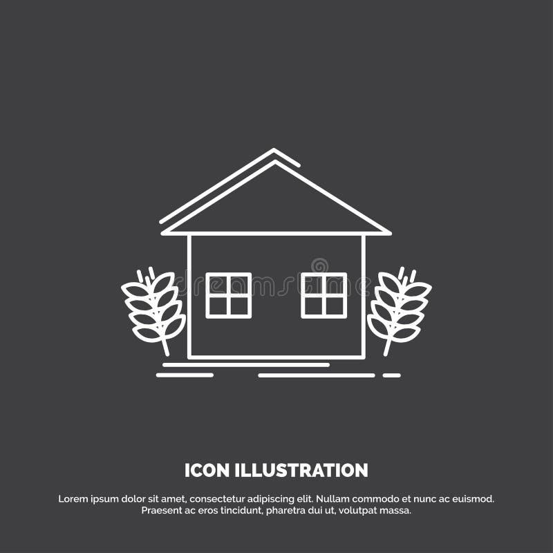 stedelijke landbouw, ecologie, milieu, de landbouwpictogram Lijn vectorsymbool voor UI en UX, website of mobiele toepassing vector illustratie