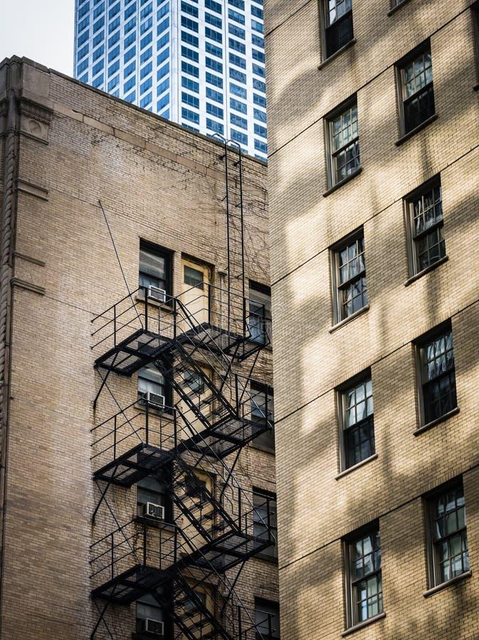 Stedelijke patronen - Chicago stock foto