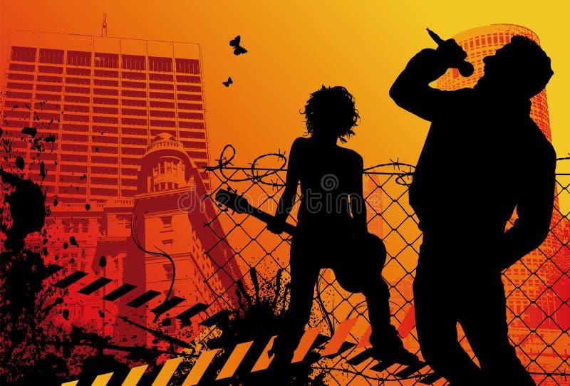 Stedelijke Popgroep stock illustratie
