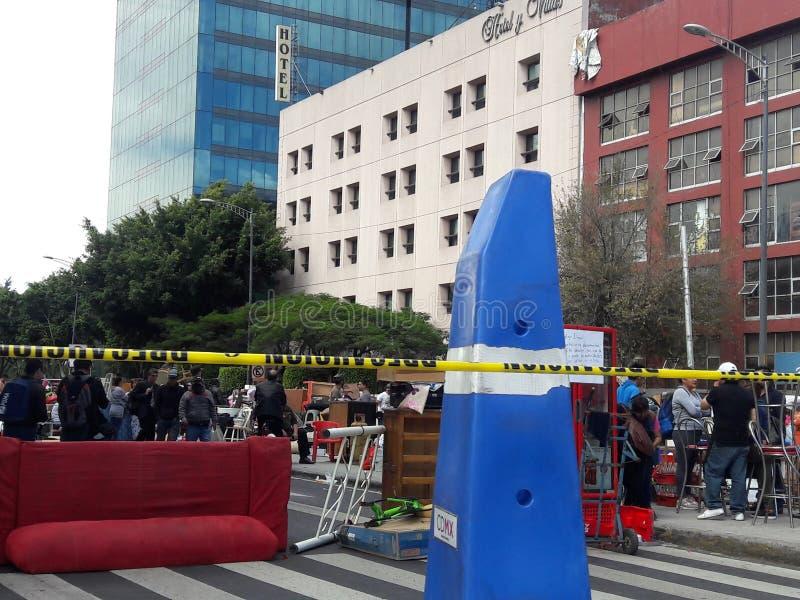 Stedelijke protesten in de megalopolis van Mexico-City stock afbeelding