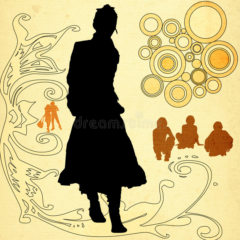 Stedelijke scène royalty-vrije illustratie