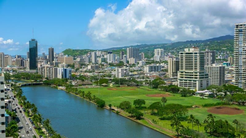Stedelijke stad Honolulu royalty-vrije stock foto