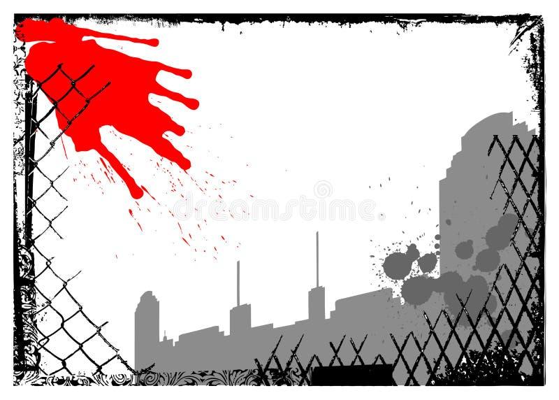 Stedelijke stads grunge vector royalty-vrije illustratie