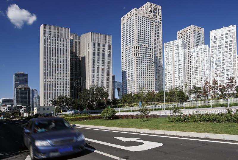 Stedelijke streetscape van Peking stock afbeelding