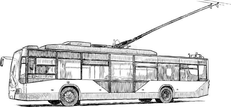 Stedelijke trolleybus stock illustratie