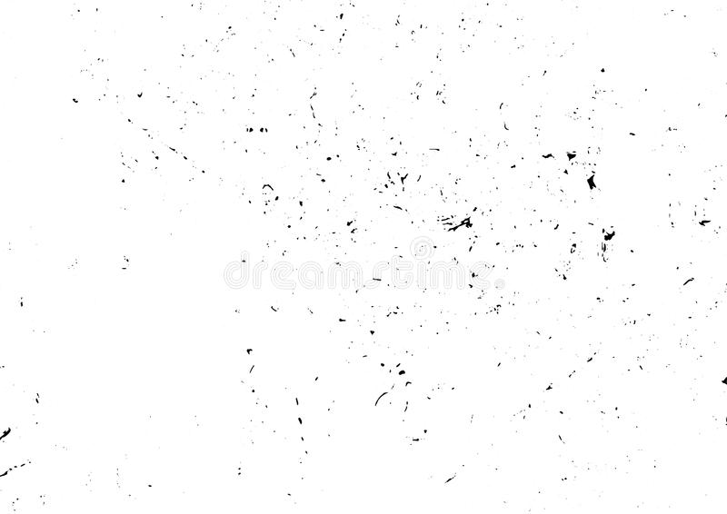 Stedelijke vuile gekraste lawaai abstracte zwart-witte achtergrond vector illustratie