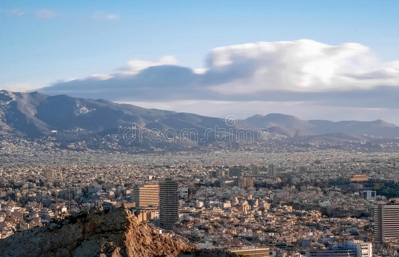 Stedelijke wildernis, Athene royalty-vrije stock afbeeldingen
