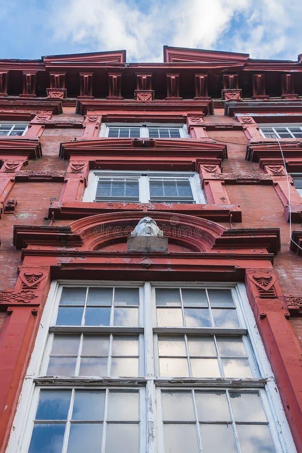 Stedelijke woningen in Manhattan royalty-vrije stock foto