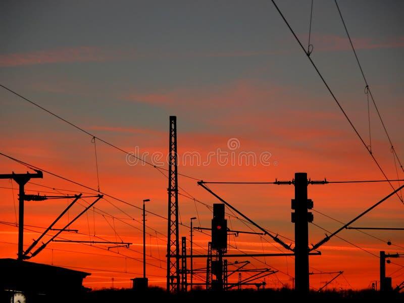 Stedelijke zonsopgang stock foto