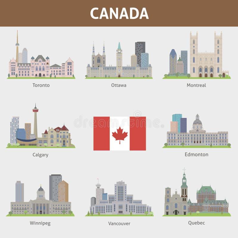 Steden in Canada royalty-vrije illustratie