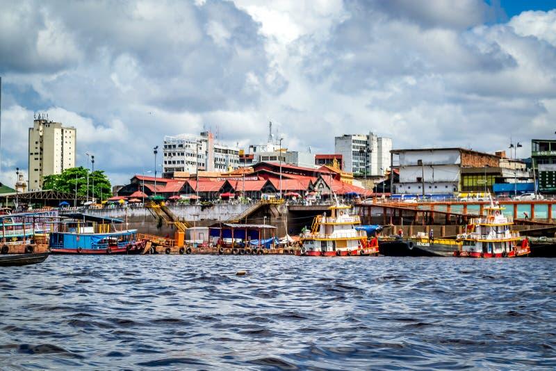 Steden van Brazilië - Manaus, Amazonas - Stadsmeningen stock fotografie