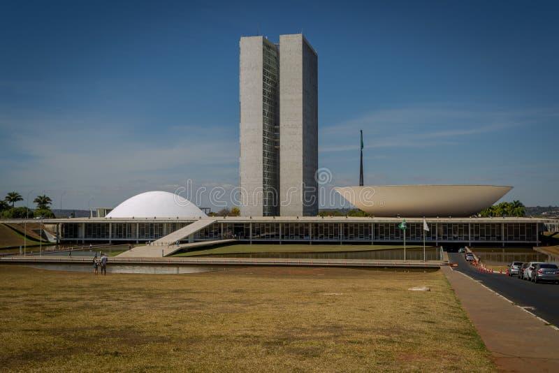 Steden van het Kapitaal van Brazilië - Brasilia - van Brazilië stock foto's