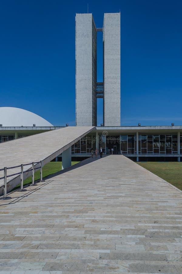 Steden van het Kapitaal van Brazilië - Brasilia - van Brazilië stock afbeeldingen