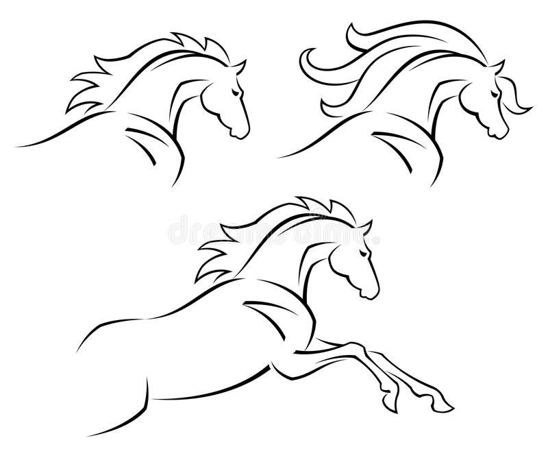Download Steed stock vector. Image of foal, fast, equine, free - 23872211