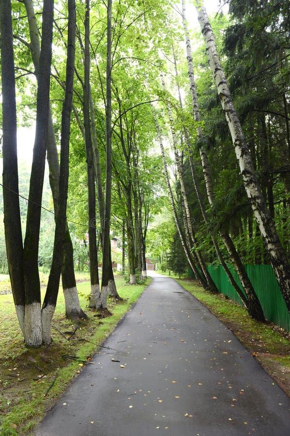 Steeg aan het huis-museum van Nobel-laureaat Boris Pasternak in Peredelkino stock afbeeldingen