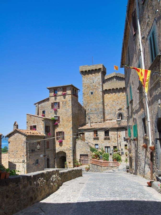 Steeg. Bolsena. Lazio. Italië. stock fotografie