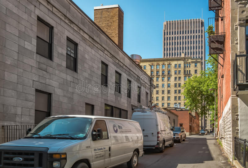 Steeg de van de binnenstad van Montreal royalty-vrije stock foto's
