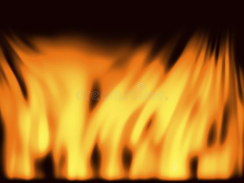 Steek achtergrond in brand vector illustratie