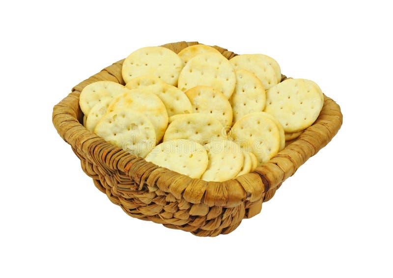 Steek de Knapperige Crackers van de Snack aan stock afbeelding