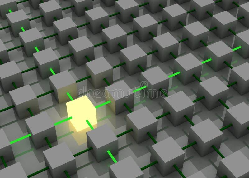 Steek kubus aan vector illustratie