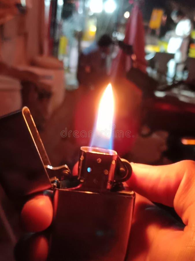 Steek mijn brand aan Originele Zippo de V.S. royalty-vrije stock afbeelding