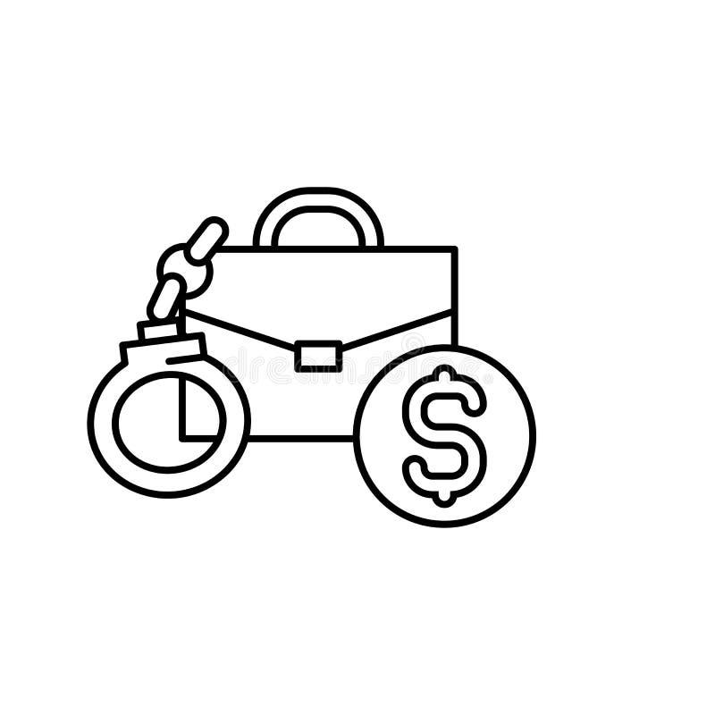 Steekpenning, Aktentaspictogram Element van corruptiepictogram Dun lijnpictogram voor websiteontwerp en ontwikkeling, app ontwikk stock illustratie