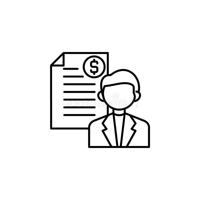 Steekpenning, contractpictogram Element van corruptiepictogram Dun lijnpictogram voor websiteontwerp en ontwikkeling, app ontwikk royalty-vrije illustratie