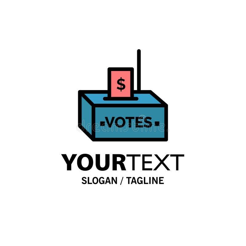 Steekpenning, Corruptie, Verkiezing, Invloed, Geldzaken Logo Template vlakke kleur vector illustratie
