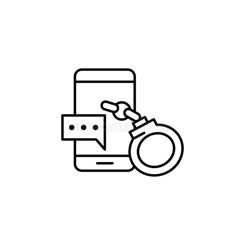 Steekpenning, mobiele telefoon, klempictogram Element van corruptiepictogram Dun lijnpictogram voor websiteontwerp en ontwikkelin stock illustratie