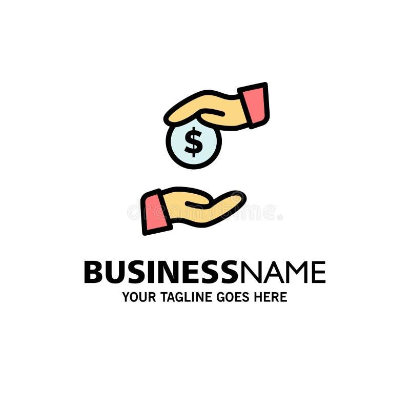 Steekpenning, Omkoperij, Bureaucratie, Corrupte Zaken Logo Template vlakke kleur royalty-vrije illustratie