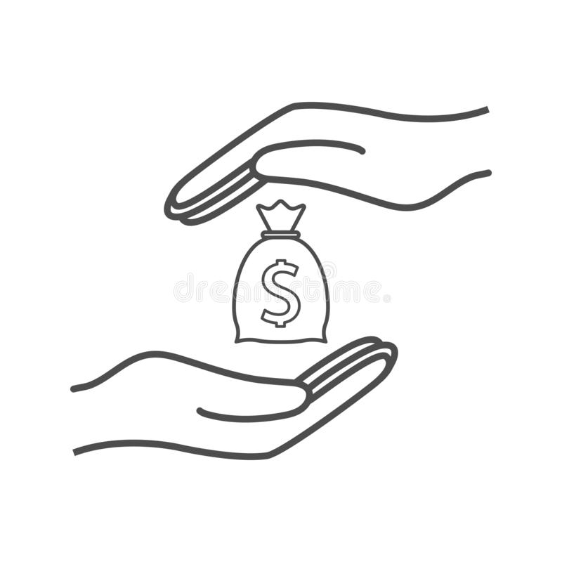 Steekpenning, omkoperij, corruptiepictogram Vectorillustratie, vlak ontwerp stock illustratie