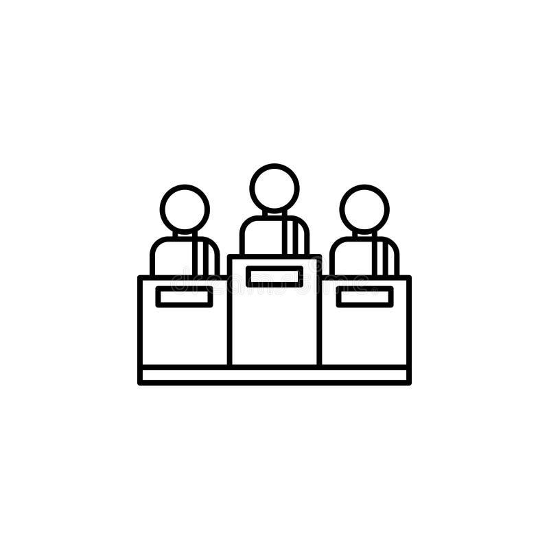 Steekpenning, rechterspictogram Element van corruptiepictogram Dun lijnpictogram voor websiteontwerp en ontwikkeling, app ontwikk vector illustratie