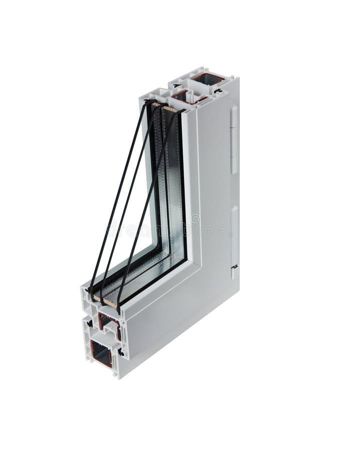 Steekproef 7 pvc van venster stock fotografie