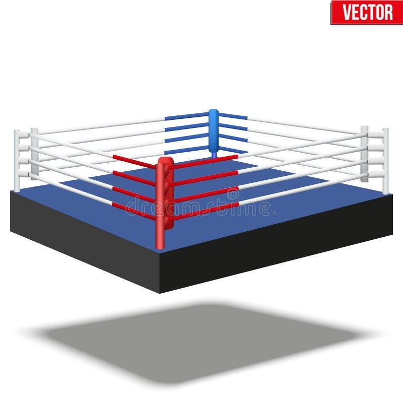 Steekproef boksring vector illustratie