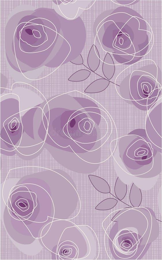 Steekproef met rozen stock illustratie