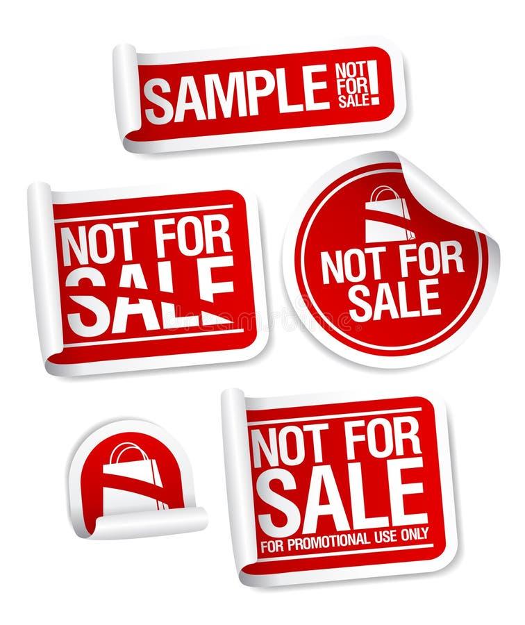 Steekproef niet voor verkoopstickers. royalty-vrije illustratie