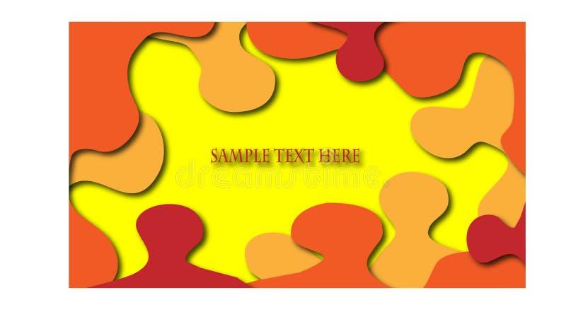 Steekproef uw tekst hier kaart met kleurrijke achtergrond royalty-vrije illustratie