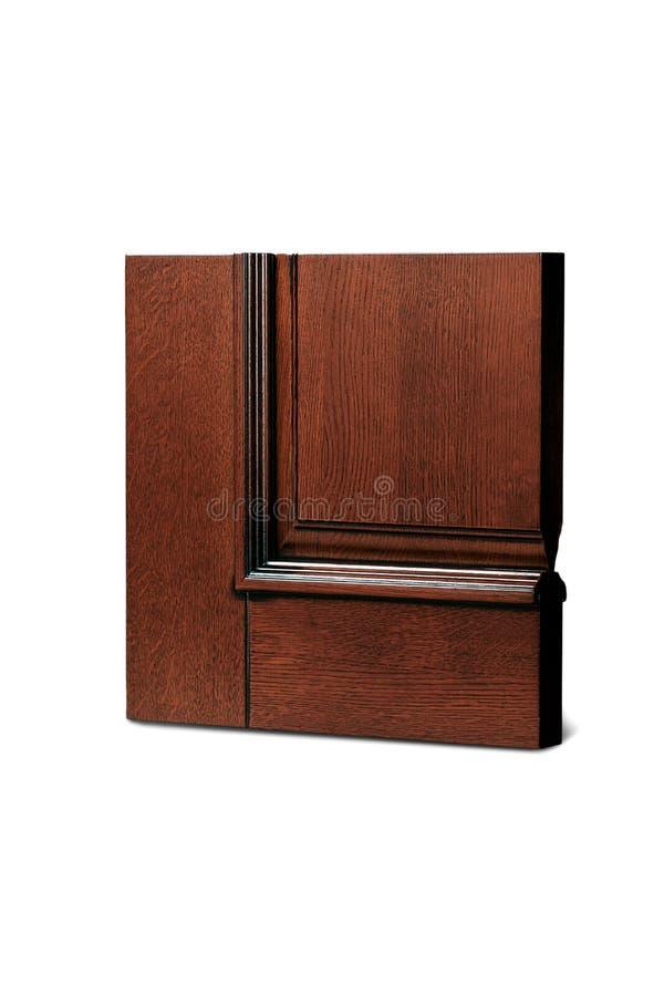 Steekproef van houten deur op witte achtergrond royalty-vrije stock foto's
