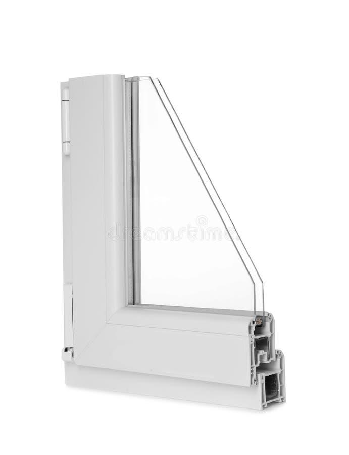 Steekproef van modern vensterprofiel stock afbeelding