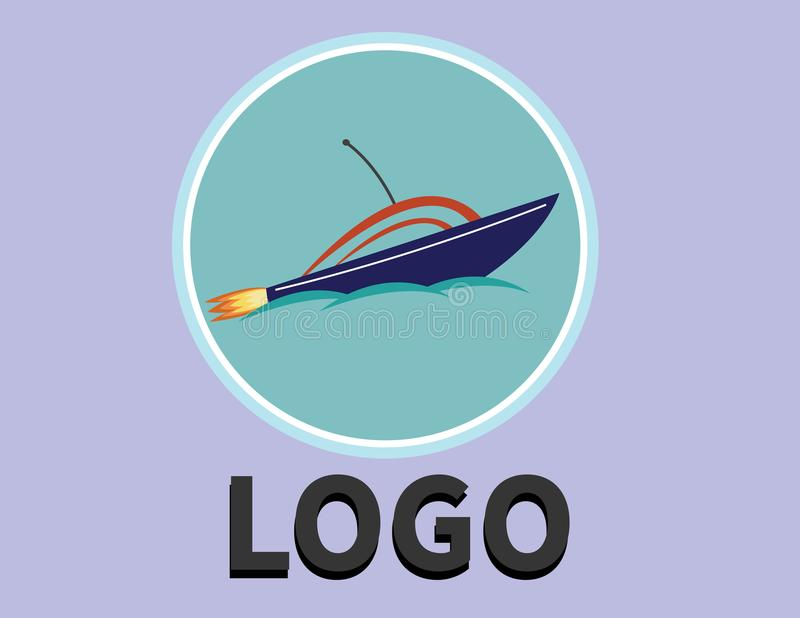 Steekproefembleem voor het verschepen of een logistisch bedrijf royalty-vrije stock foto